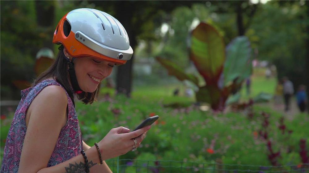 capacetes da bicicleta inteligente