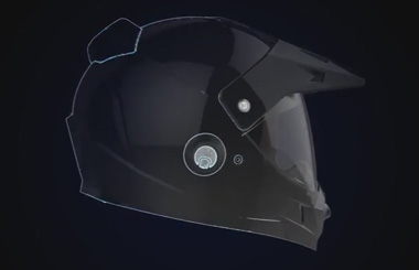 Airwheel C8 intelligent helmet for motorcycle riders.