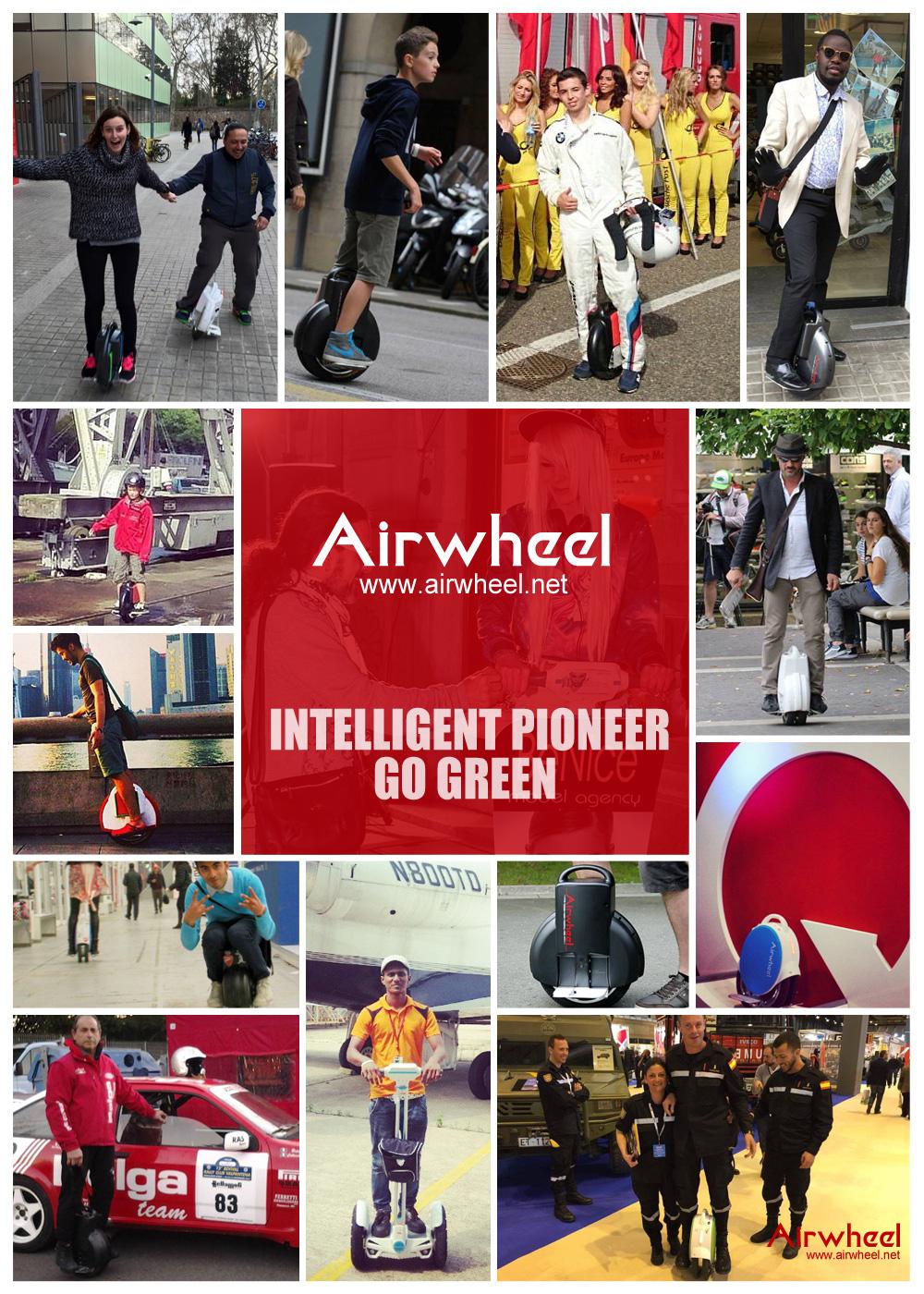 Airwheel, X8 auto-bilanciamento scooter, monociclo motorizzato mini scooter
